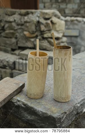mug made of bamboo
