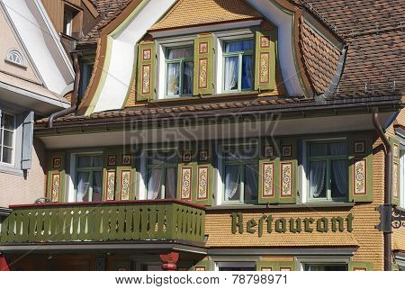 Traditional building exterior, Appenzell, Switzerland.