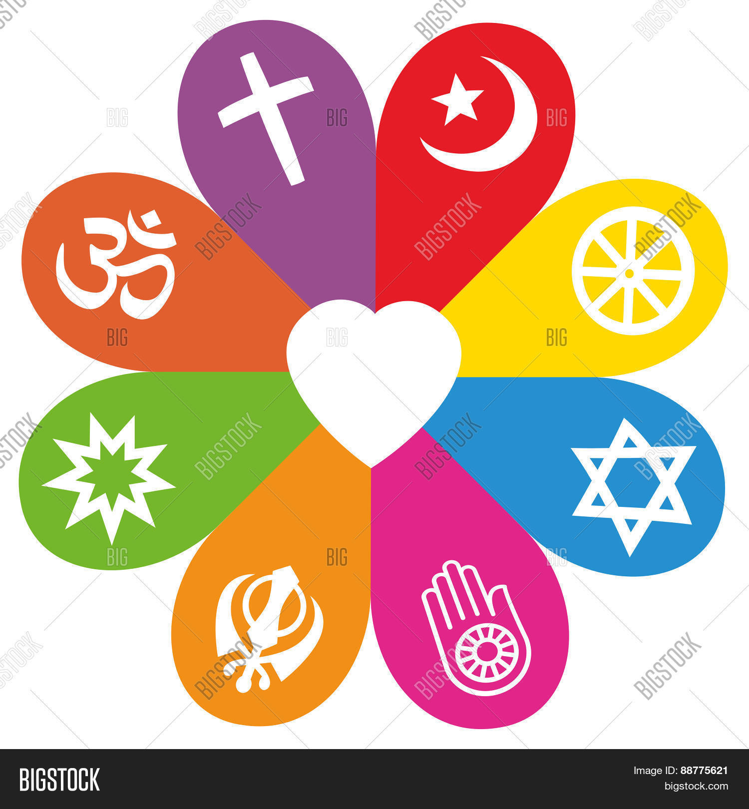 Religion symbols flower love vector photo bigstock religion symbols flower love colors buycottarizona