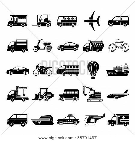 car icons, vehicle icons