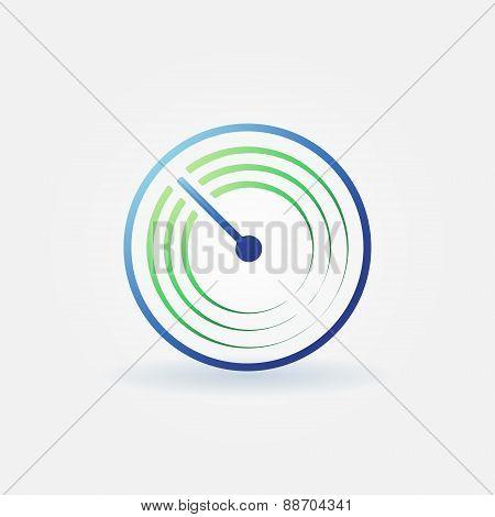 Radar vector bright icon