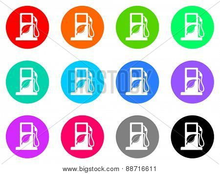 biofuel vector web icon set