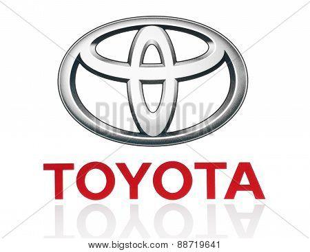 KIEV UKRAINE - MARCH 21 2015: Toyota logo