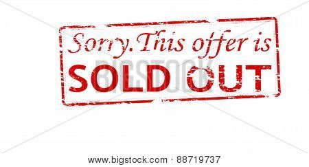Rubber stamp with text this offer is sold out inside vector illustration