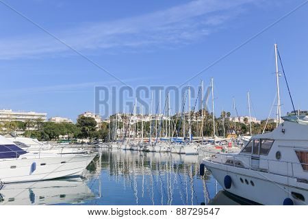 Yachts Anchored In Port Pierre Canto In Cannes