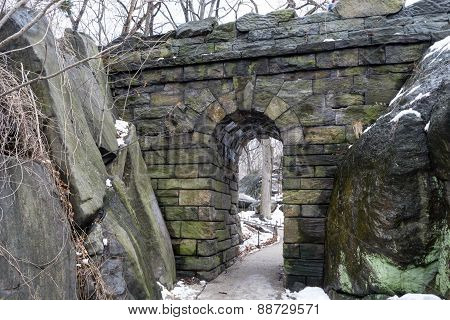 Ramble Stone Arch During The Winter