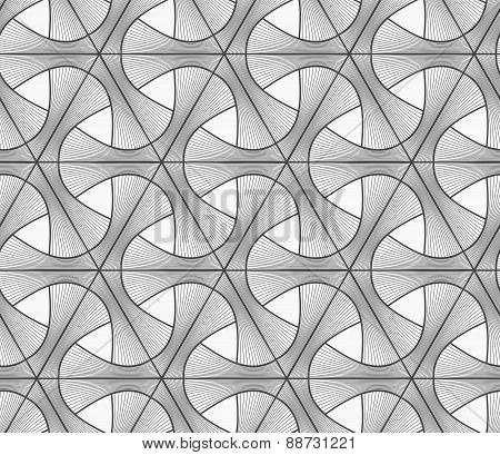 Monochrome Light Striped Tetrapods With Grid