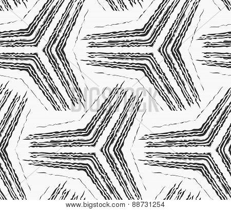 Monochrome Rough Striped Big Tetrapods