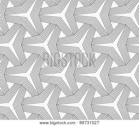 Slim Gray Partly Striped Tetrapods