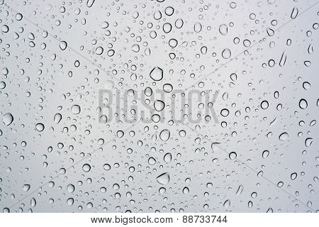 Rain drops background, water raindrop