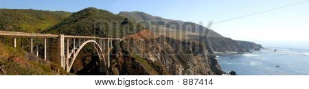 Highway 1. California. Bridge. Panorama