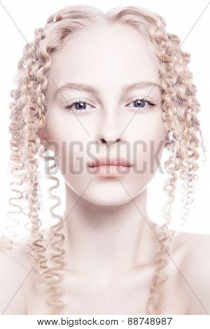 Portrait of mysterious albino woman