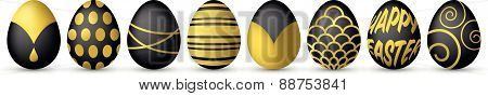 isolated easter eggs vector