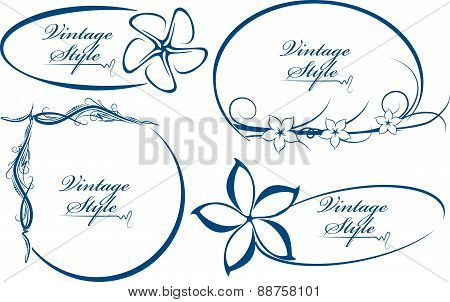 Beautiful Collection Of Oval Frames. Vector