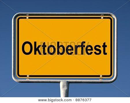 German street sign Oktoberfest