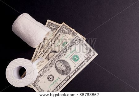 Therapeutic Self Adhesive Tape And Money