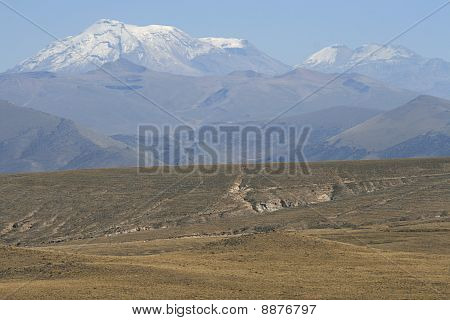 Andes mountains landscape