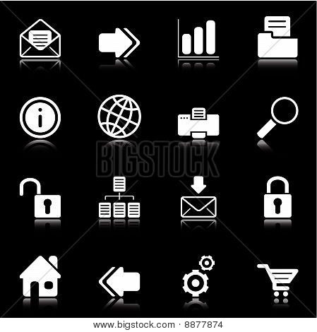 Web Icons Black And White2.epsWeb and Internet icons - black series