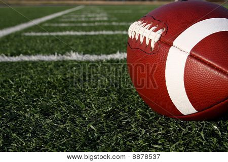 American Football With The Yard Lines