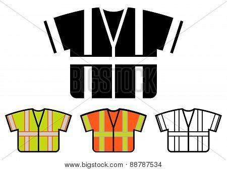 Safety Vest Icon, Vector Illustration