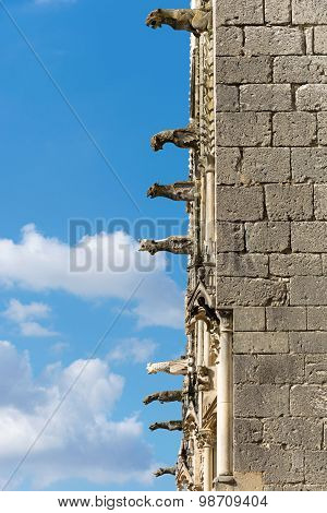Bourges cathedral gargoyles, France