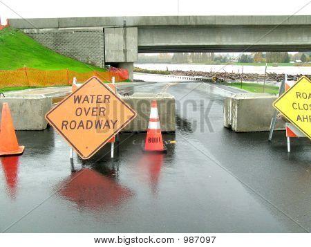 Water Over Roadway