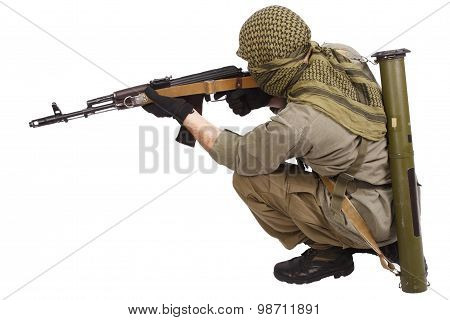 Shooter With Ak 47