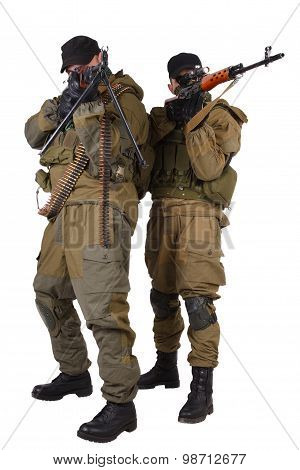 Insurgent Sniper Pair With Svd Rifle And Rpd Machine Gun