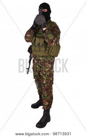 Ukrainian Volunteer With Grenade Launcher Rpg