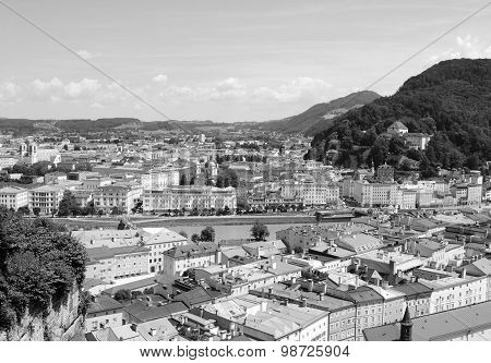 View Across The Austrian City Of Salzburg