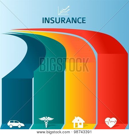 Insurance-brochure-template-infographics-colored-stripes