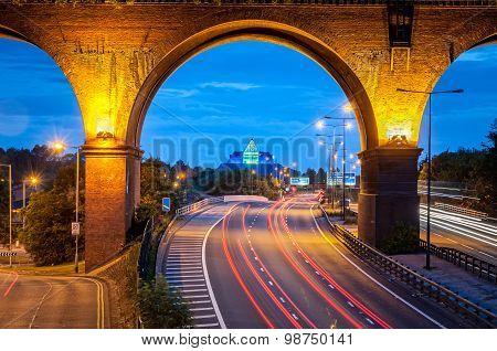 Railway Viaduct Over Motorway