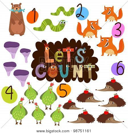 Let's Count 1-6- Learn To Count Numbers Funny Cartoon