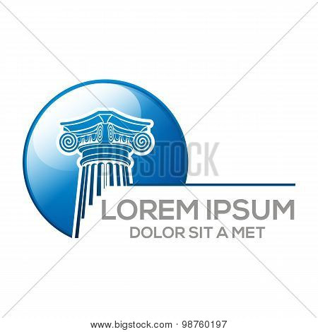 Logo abstract law building vector