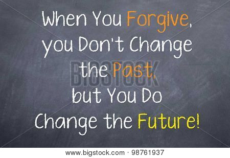 Forgive and Change the Future