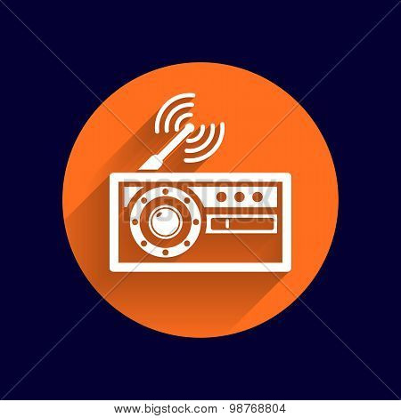 radio icon vector station symbol fm antenna