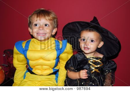 Super Hero And Baby Witch