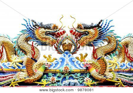 Dragon Statue icon fortune chinese animal collection lucky [NEW] on white isolate poster