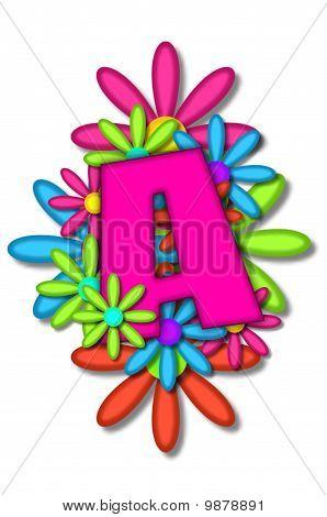 Alphabet Flower Cushion A