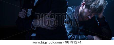 Policewoman And Criminal