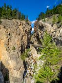 Sinclair Canyon outside the village or Radium Hot Springs. Sinclair Canyon is the main pass through the Rocky Mountains in Kootenay National Park. poster