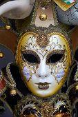 Original Venetian Face Mask Detail Closeup Female poster