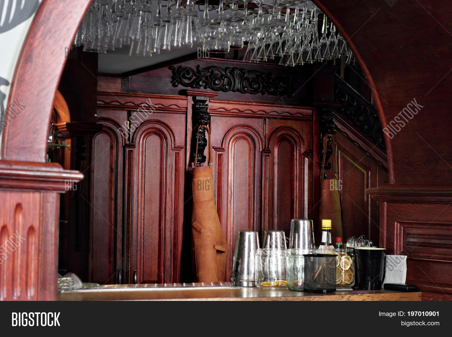 Classic Bar Counter Image & Photo (Free Trial) | Bigstock