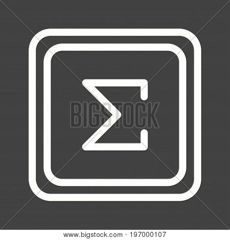 Summation, sign, math icon vector image. Can also be used for Math Symbols. Suitable for mobile apps, web apps and print media.