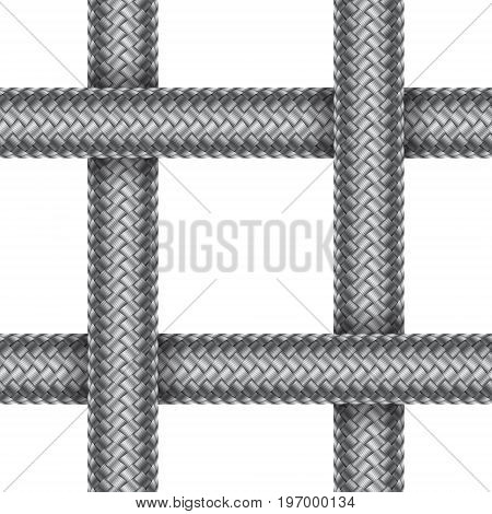 Seamless pattern of intersected braided cord. Vector illustration