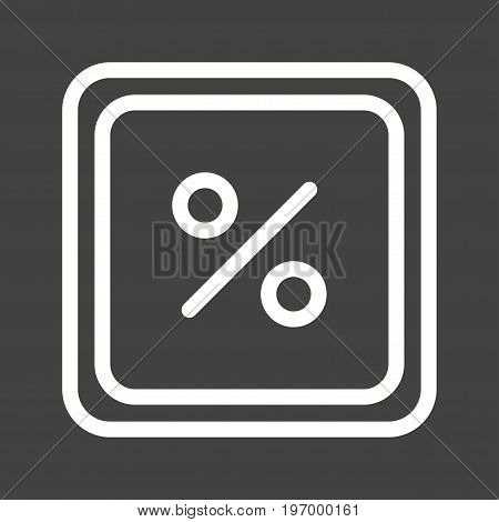 Percentage, maths, sign icon vector image. Can also be used for Math Symbols. Suitable for mobile apps, web apps and print media.