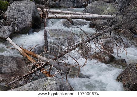Streams of watercourses in the high Tatras in the Slovak Republic as a suitable background