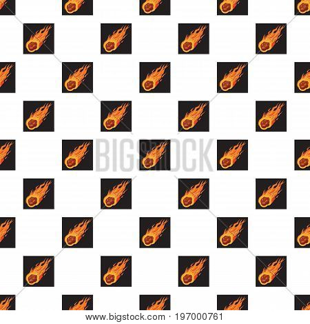 Falling meteorite pattern seamless repeat in cartoon style vector illustration