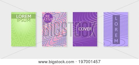 Minimal covers design set. Simple shapes with trendy gradients. Can be used for decoration presentation, brochure, catalog, poster, book, magazine etc. Eps10 vector.