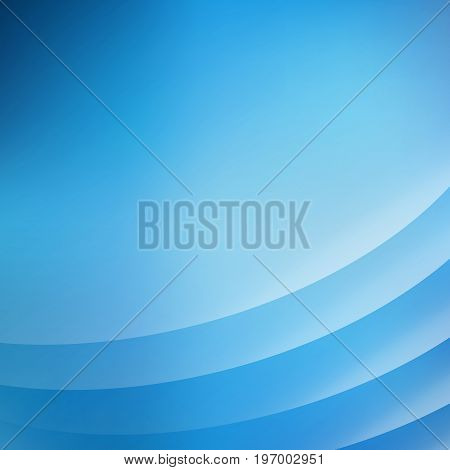 Abstract blue background with curve lines smooth blue light Vector illustration copy space